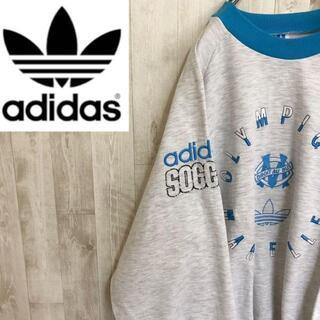 adidas - アディダス 90s 刺繍ロゴスウェット オリンピック マルセイユ サッカー