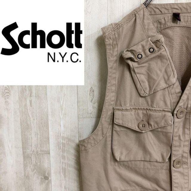 schott(ショット)のショット ハンティングベスト キャンプワーク メッシュ コットン 5ポケ メンズのトップス(ベスト)の商品写真