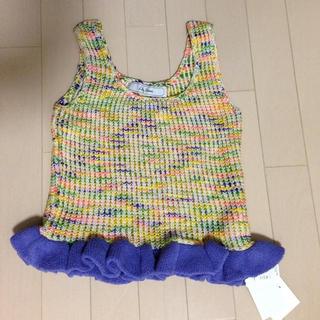 リリーブラウン(Lily Brown)のリリーブラウン ノースリーブニット(Tシャツ(半袖/袖なし))