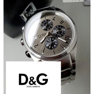 ドルチェアンドガッバーナ(DOLCE&GABBANA)の美品 ドルガバ 「サンドパイパー」 クロノグラフ メンズ腕時計 D&G(腕時計(アナログ))