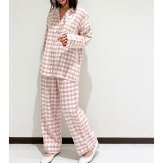 gelato pique - ジェラートピケ♡ネルギンガムチェックシャツ&ロングパンツ♡ダスティピンク♡