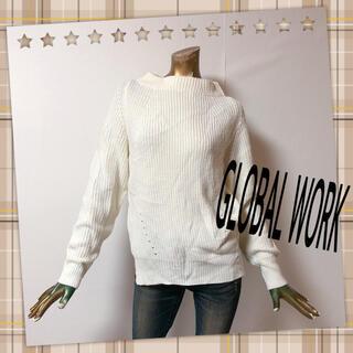 GLOBAL WORK - GLOBAL WORK ♥ ボトルネック スリット ニット