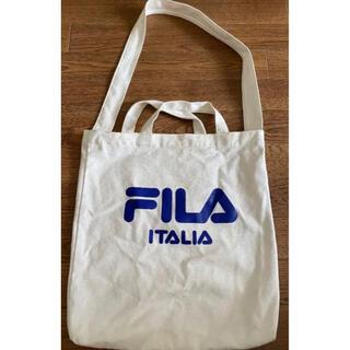 フィラ(FILA)のFILA トートバッグ エコバッグ 白(トートバッグ)