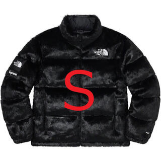 シュプリーム(Supreme)のThe North Face Faux Fur Nuptse  Black S (ダウンジャケット)