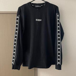 カッパ(Kappa)のロンT 黒(Tシャツ/カットソー(七分/長袖))