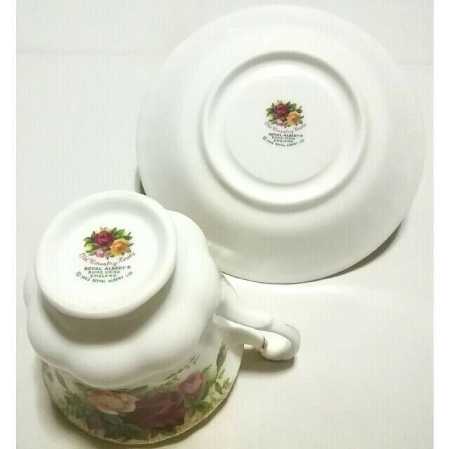 ROYAL ALBERT(ロイヤルアルバート)の大人気ブランド食器(ロイヤルアルバートカントリーローズ&Winsome)3客格安 インテリア/住まい/日用品のキッチン/食器(グラス/カップ)の商品写真