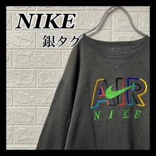 NIKE - NIKE AIR ナイキエアー【銀タグ】スウェット トレーナー 刺繍スウォッシュ