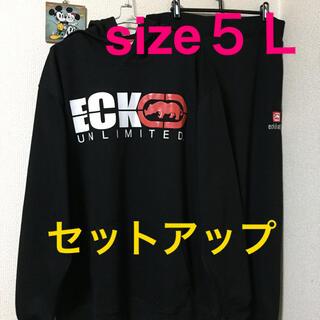 エコーアンリミテッド(ECKŌ UNLTD(ECKO UNLTD))の大きいサイズメンズ*新品 タグ付き ECKO セットアップ(パーカー)