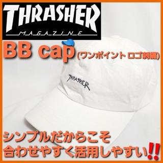 スラッシャー(THRASHER)のTHRASHER クラッシャー✨ベースボールCAP❗BBCAP ロゴ刺繍 帽子(キャップ)