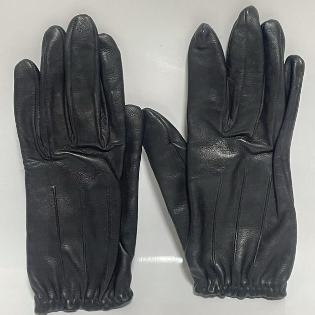 Hermes(エルメス)のエルメス レザー袋 ブラック レディースのファッション小物(手袋)の商品写真