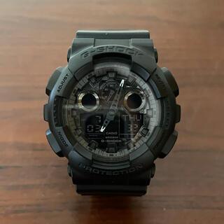 カシオ(CASIO)のG-SHOCK GA-100CF カモフラージュ ブラック (腕時計(デジタル))