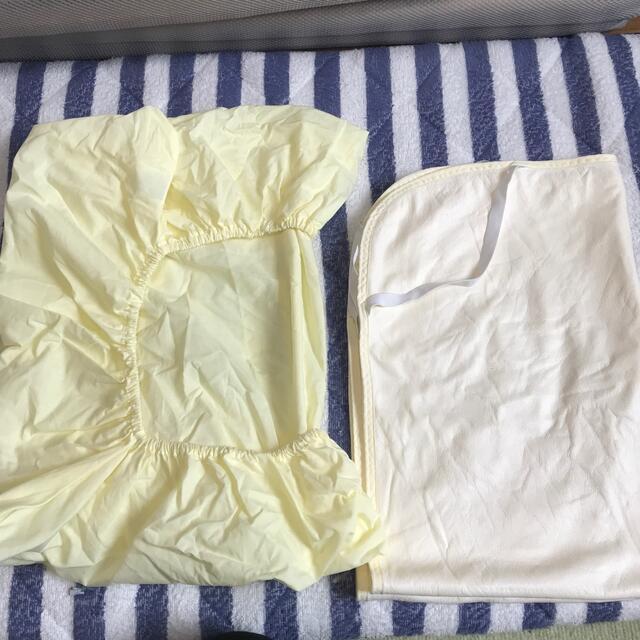 西松屋(ニシマツヤ)のシーツと防水シーツ キッズ/ベビー/マタニティの寝具/家具(シーツ/カバー)の商品写真