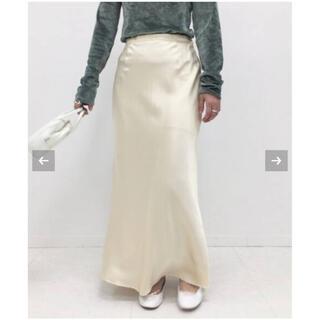 エディットフォールル(EDIT.FOR LULU)の値下げシルクサテンスカート36サイズ(ロングスカート)