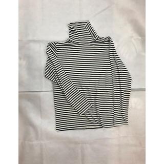 サンローラン(Saint Laurent)のボーダー タートルネック カットソー(Tシャツ/カットソー(七分/長袖))
