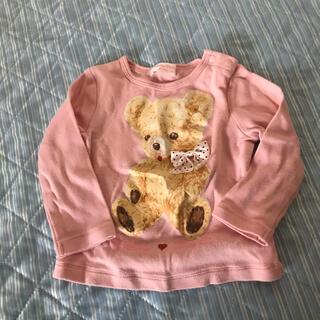 シャーリーテンプル(Shirley Temple)のクマ くま テディベア トップス 長袖Tシャツ(Tシャツ/カットソー)