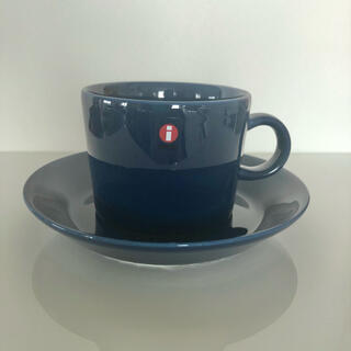 イッタラ(iittala)の廃盤 未使用 イッタラ ティーマ ブルー カップ&ソーサー 廃盤カラー 貴重(食器)
