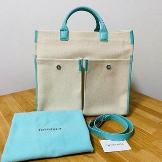 ティファニー(Tiffany & Co.)のティファニー  2WAY バッグ ジットニー ティファニー ブルー(トートバッグ)