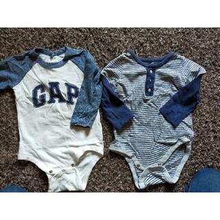 ベビーギャップ(babyGAP)のGAPbaby 長袖ロンパース2着セット(ロンパース)