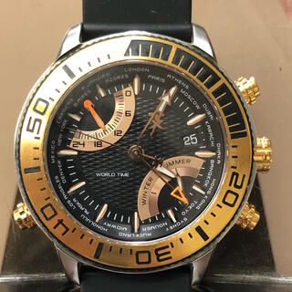 タイメックス(TIMEX)のタイメックス ワールドタイム フライバッククロノグラフ 腕時計 T3C414(腕時計(アナログ))