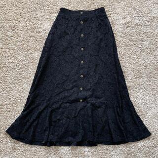マーメイドスカート 黒 ブラック ロングスカート(ロングスカート)