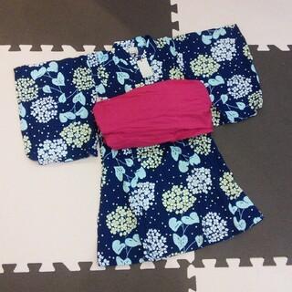 プティマイン(petit main)の新品 プティマイン 浴衣90 アプレレクール ブランシェス テータテート(甚平/浴衣)
