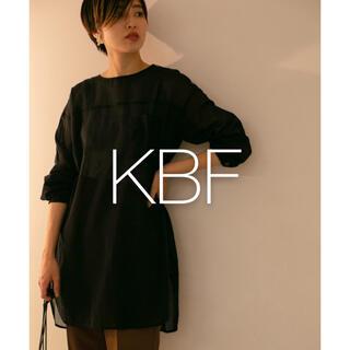 ケービーエフ(KBF)の✱美品✱ KBF コットンシアーブラウス(シャツ/ブラウス(長袖/七分))
