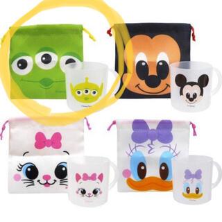 Disney - コップ&巾着袋