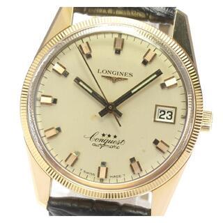 ロンジン(LONGINES)のロンジン K18PG コンクエスト  8062 2 メンズ 【中古】(腕時計(アナログ))