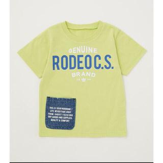 ロデオクラウンズワイドボウル(RODEO CROWNS WIDE BOWL)の☆RCWB キッズサイドポケットビッグTシャツ(Tシャツ/カットソー)