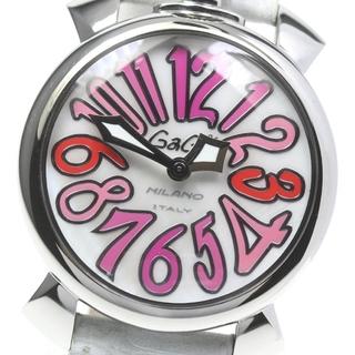ガガミラノ(GaGa MILANO)の☆美品 ガガミラノ マヌアーレ40  5020.6 レディース 【中古】(腕時計)