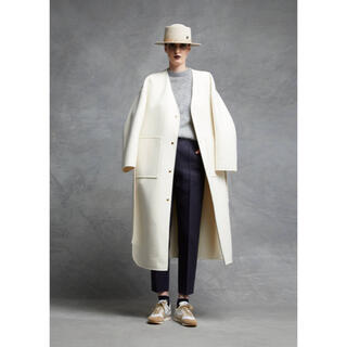 Drawer - ドゥロワー リバーシブル 白 コート 36