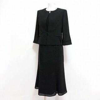 ★ブラックフォーマル・スーツ風ワンピース 15号(礼服/喪服)