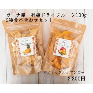 【無添加】ガーナ産パイナップル🍍×マンゴー🥭 100g×2種セット(フルーツ)