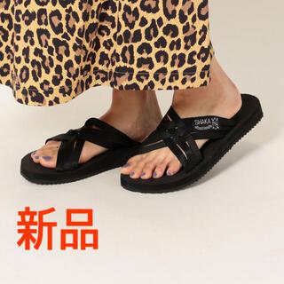 シップスフォーウィメン(SHIPS for women)の新品定価5,280円 SHAKA シャカ LOS CABOS サンダル ブラック(サンダル)