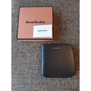 アクネ(ACNE)のアクネストゥディオス Acne Studios  二つ折り財布 ダークブルー(財布)