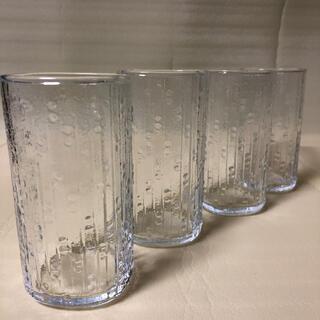 トウヨウササキガラス(東洋佐々木ガラス)の【未使用】昭和レトロ  佐々木硝子  グラス 4個 刻印入り タンブラー(グラス/カップ)