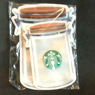 スターバックスコーヒー(Starbucks Coffee)の【 スターバックス  ジッパーバッグ 6枚セット 新品 】 STARBUCKS (ノベルティグッズ)