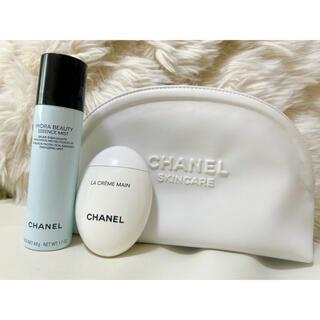 CHANEL - シャネル ハイドレイティングスキンケアデュオ 美容液 ハンドクリーム ポーチ