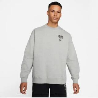 STUSSY - NIKE × STUSSY NRG BR Crew Fleece Grey