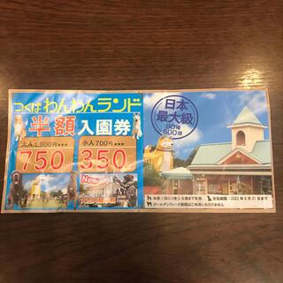 つくばわんわんランド半額券(遊園地/テーマパーク)