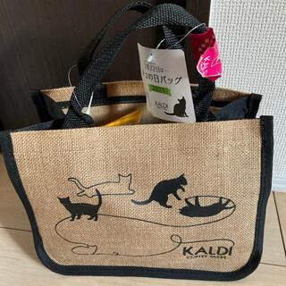 カルディ(KALDI)の【新品】KALDI ネコの日バッグ2021 抜き取りなし(トートバッグ)