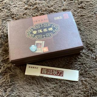 【未使用】専用ナイフ付❗️台湾、雲南で購入★雲南の本格的高級プーアール茶(健康茶)