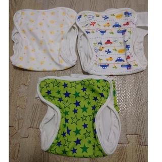 ニシキベビー(Nishiki Baby)のなおみ様専用 布オムツカバー 90 車柄なし 2枚(ベビーおむつカバー)