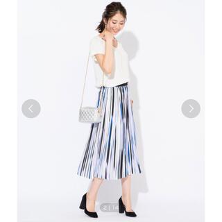 ラウンジドレス(Loungedress)の美品 プリーツスカート(ひざ丈スカート)