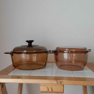 パイレックス(Pyrex)のVISION  ガラス  鍋(鍋/フライパン)