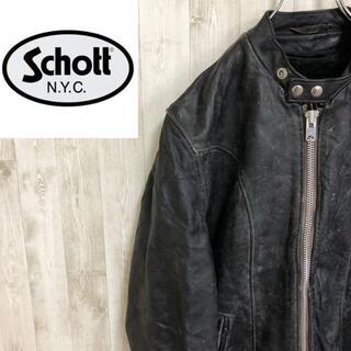 ショット(schott)のSchott 80s シングルライダースジャケット USA製 TALON(ライダースジャケット)
