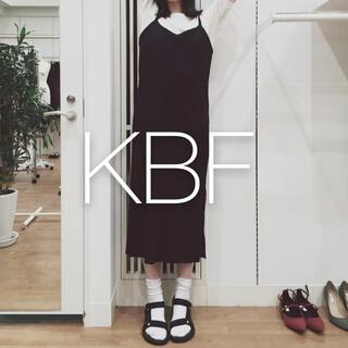 ケービーエフ(KBF)の✱試着のみ美品✱ KBF リブキャミソールロングワンピース(ロングワンピース/マキシワンピース)