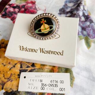 ヴィヴィアンウエストウッド(Vivienne Westwood)のヴィヴィアン エナメルオーブ ブローチ 黒(ブローチ/コサージュ)