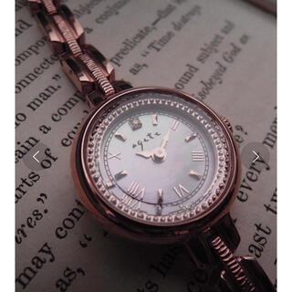 agete - agete ラウンドフェイスソーラーウォッチ ソーラー腕時計