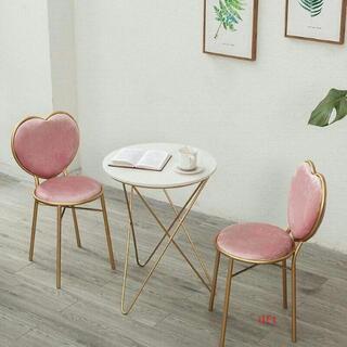 7ピンクネットレッドドレッサーガラス鉄芸茶リビング側テーブルと椅子(ローテーブル)